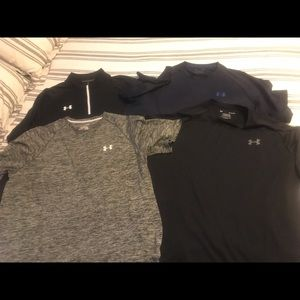 Under Armour lot of 4 shirts size XL
